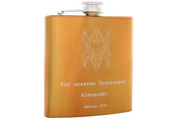Flachmann Gold 180 ml