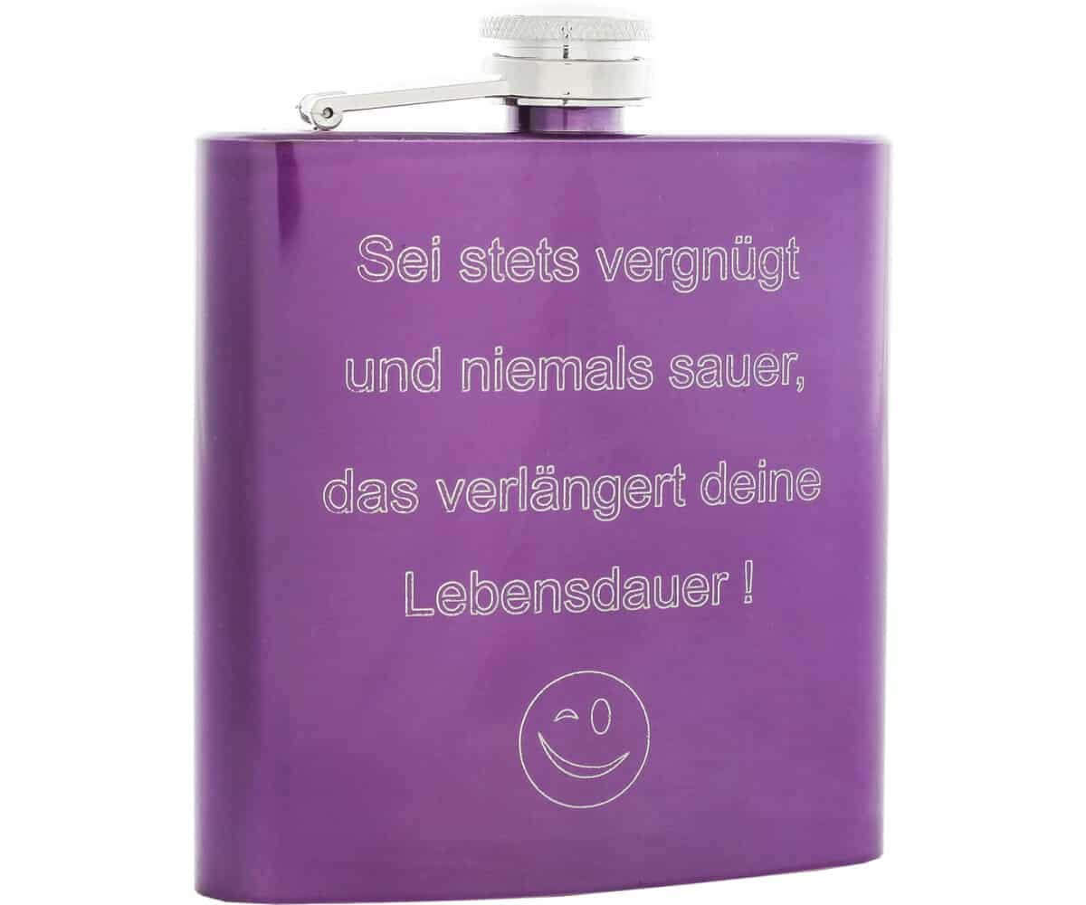 Flachmann Violett 180 ml
